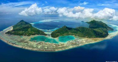 Tun Sakaran Marine Park Aerial View