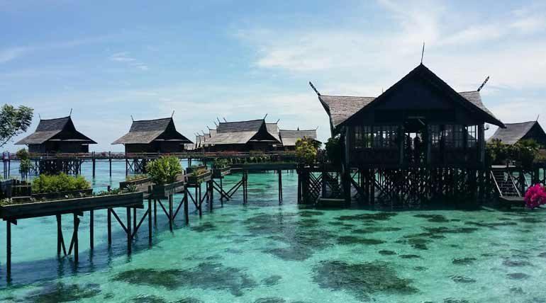 The luxurious Sipadan-Kapalai Resort.
